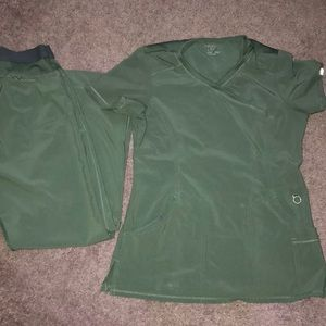 Very gently used green scrubs